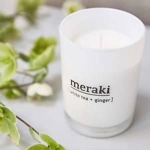 Bilde av Meraki white tea & ginger, duftlys STORT